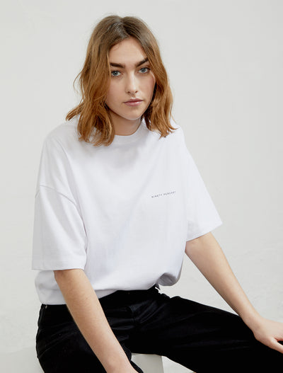 women's Organic cotton white T-shirt