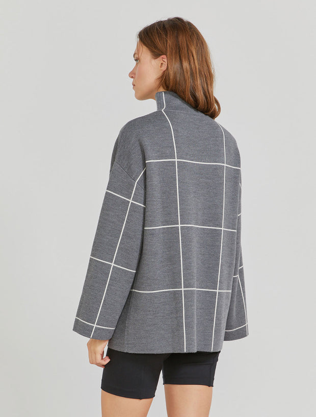 Women's Merino wool funnel neck tunic
