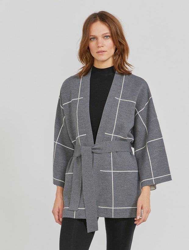 Women's Merino wool belted cardigan