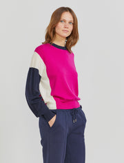 women's Merino wool colour-block jumper