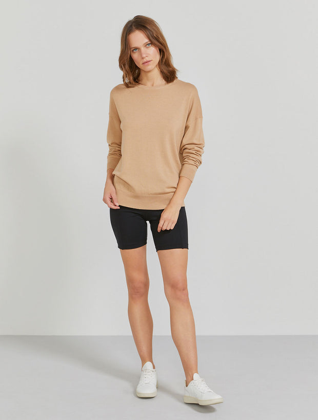 Women's Merino wool crew neck sweater