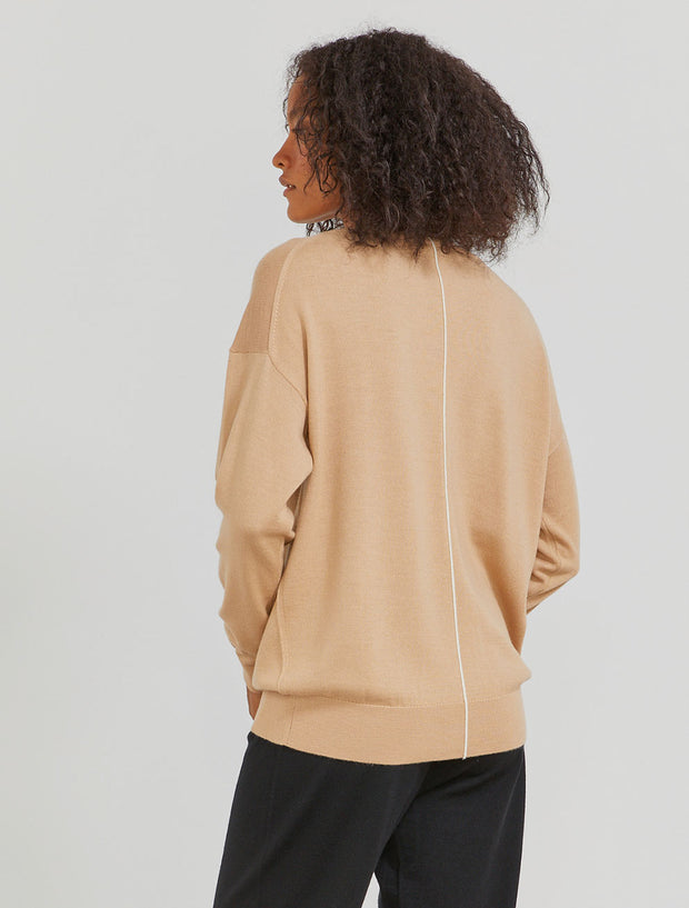 Women's Merino wool V-neck sweater