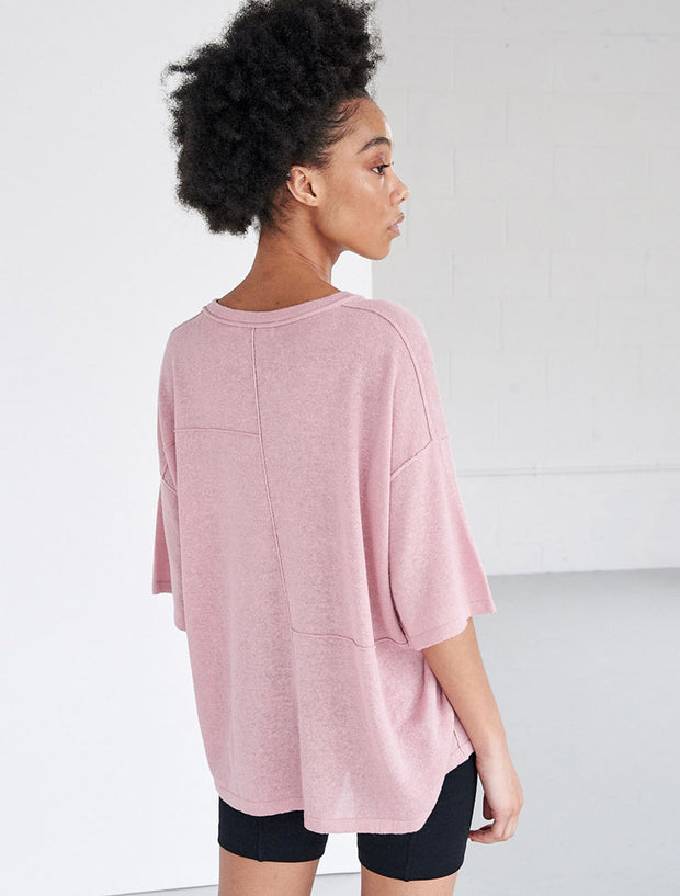 oversized patchwork short sleeve tee