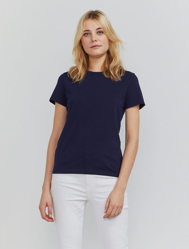 Women's Organic cotton classic fit navy T shirt
