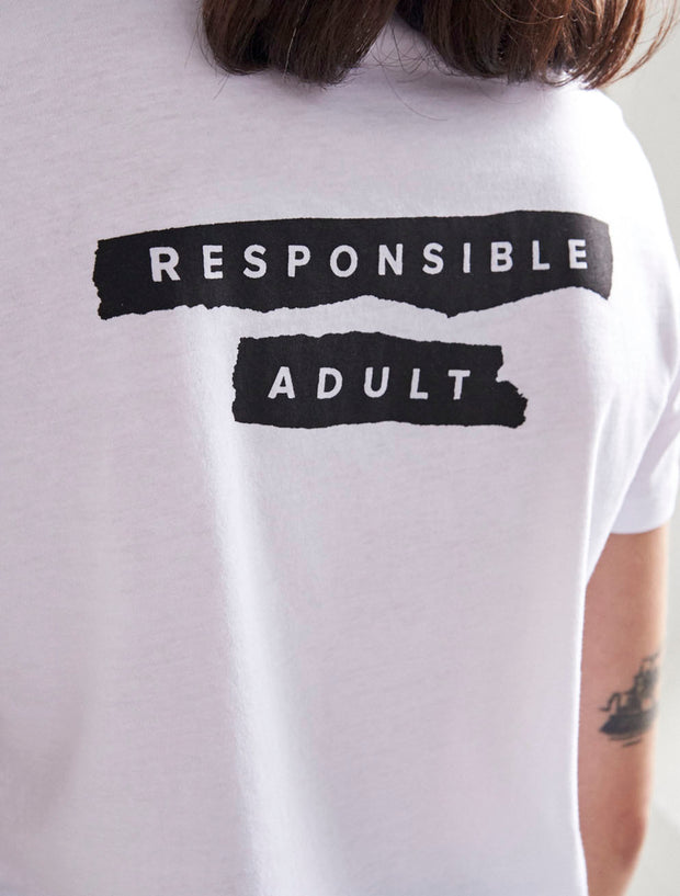 responsible adult punk inspired t shirt