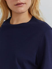 Women's Organic cotton boy fit navy T shirt