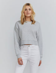 Women's Organic cotton cropped grey sweatshirt