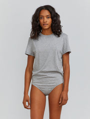 Women's Organic cotton grey boy-fit body