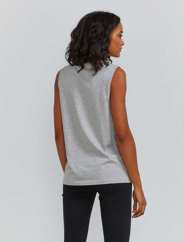 Women's Organic cotton boy fit grey vest