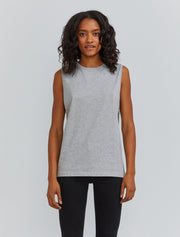 Women's Organic cotton boy-fit grey vest
