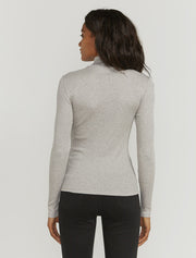 Women's Organic cotton ribbed roll neck top