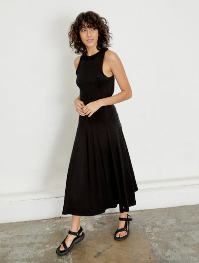 Women's Open back Tencel sleeveless dress