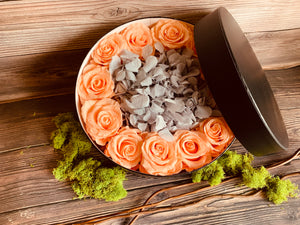 PRETTY IN PEACH FLORAL GIFT BOX