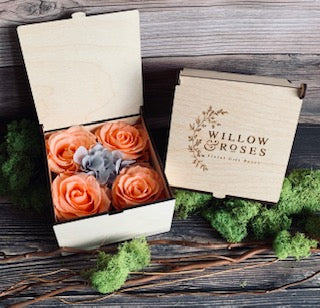 PRETTY IN PEACH ARTISANAL FLORAL GIFT BOX