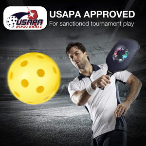 Pickleball Paddles, USAPA Pro Graphite Pickleball Paddle Set of 2 Pickleball Racquet 4 Pickleball Balls 1 Bag, Polypropylene Honeycomb Core, Graphite Face Cushion 4.25In Grip Lightweight Pickleball