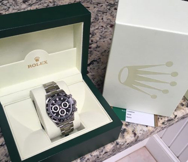 2016 Rolex Daytona Steel Black Face / Ceramic Bezel Model 116500