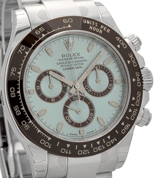 Rolex Daytona Platinum Wristwatch Model 116506