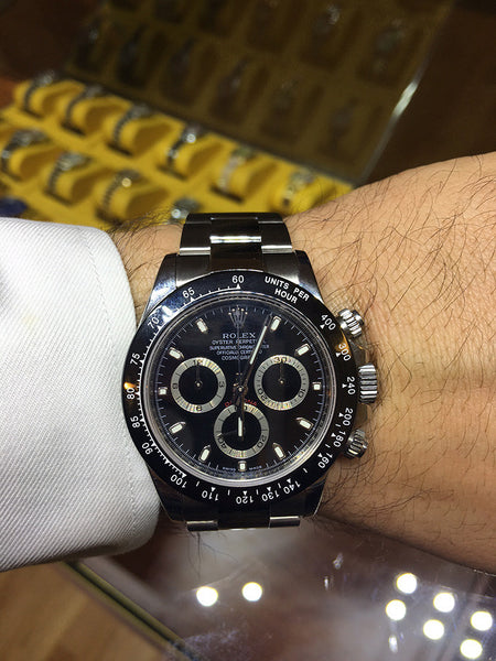 2015 Rolex Daytona Steel Black Face / Ceramic Bezel !