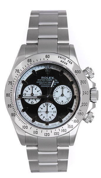 Rolex Daytona Steel Custom Paul Newman Black Face / WOW