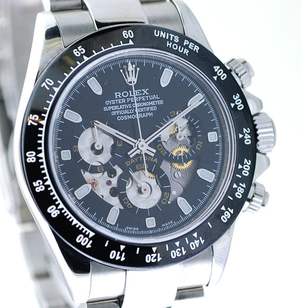Rolex Daytona Steel Rare Skeleton Face / WOW