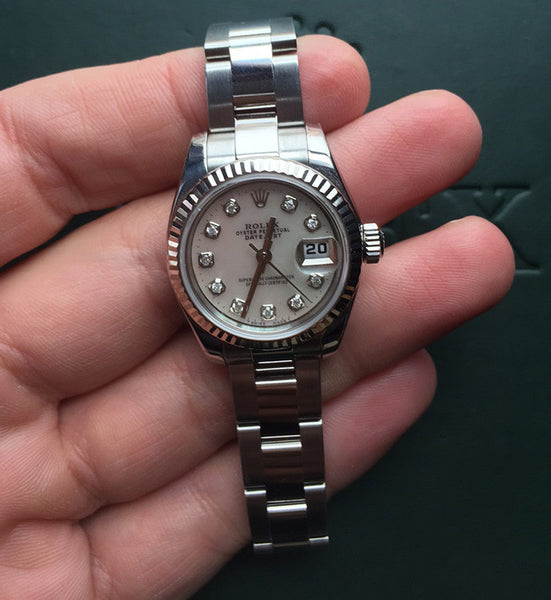Rolex Datejust Ladies White MOP Diamond Dial / Model 179174