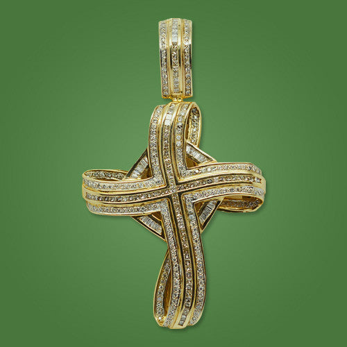 Cross in 14kt Yellow Gold 4.50ct