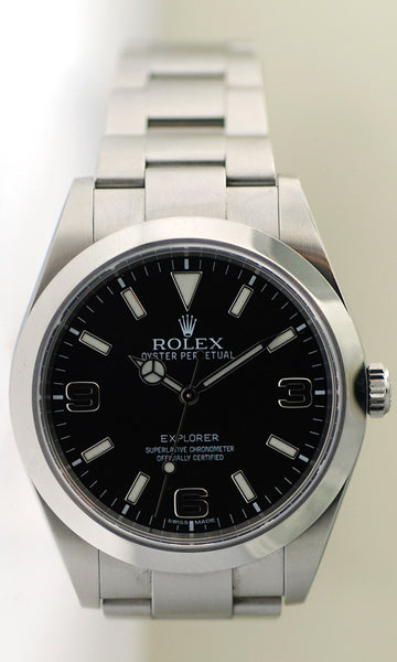 Rolex Explorer I Steel Black Dial Model 214270