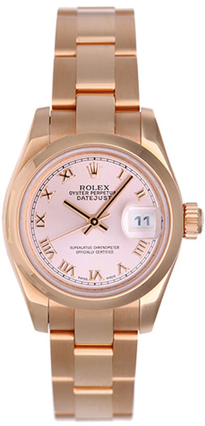 Rolex Ladies Rose Gold President Pink Roman Dial / Model # 179165