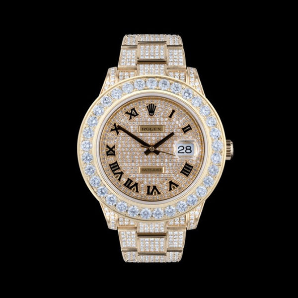Rolex Datejust II Pave Diamond Dial / Loaded with Diamonds - 18ct - Yellow Gold