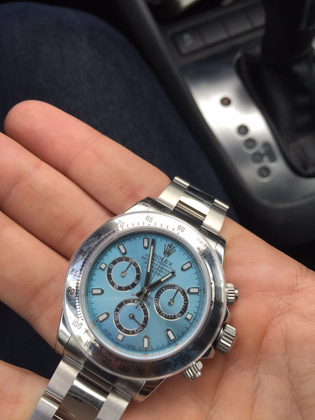 2015 Rolex Daytona Steel Ice Blue Face / Steel Bezel