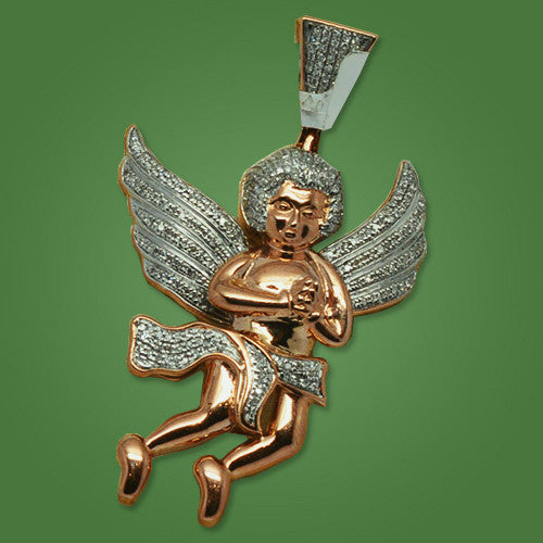 Angel Charm in Pink Gold 0.60ct of Diamonds - Great Look !