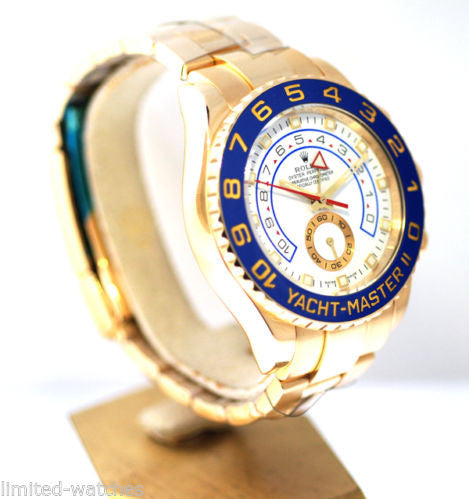 Rolex Yachtmaster II Yellow Gold / Blue Bezel - Model # 116688