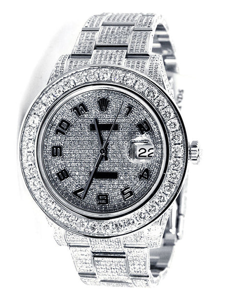 Rolex Datejust II Pave Diamond Dial / Loaded with Diamonds - 18ct