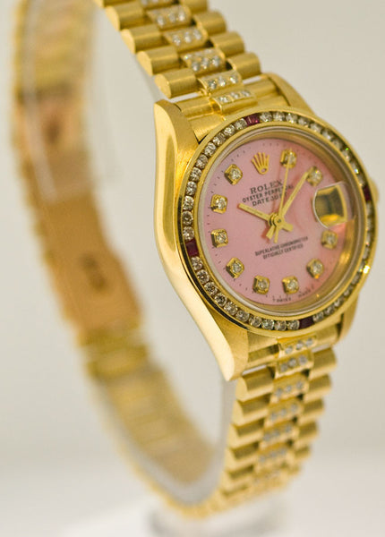 Rolex Datejust Midsize Yellow Gold Diamond Dial/Bezel/Bracelet