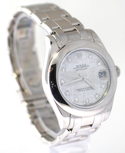 Rolex Datejust Midsize Pearlmaster White Gold Meteorite Diamond Dial
