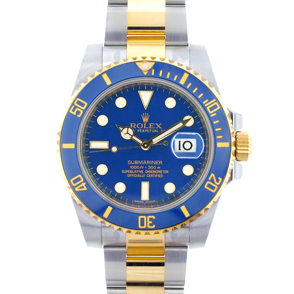 Rolex Submariner Two Tone Blue Face / New - Model # 116613