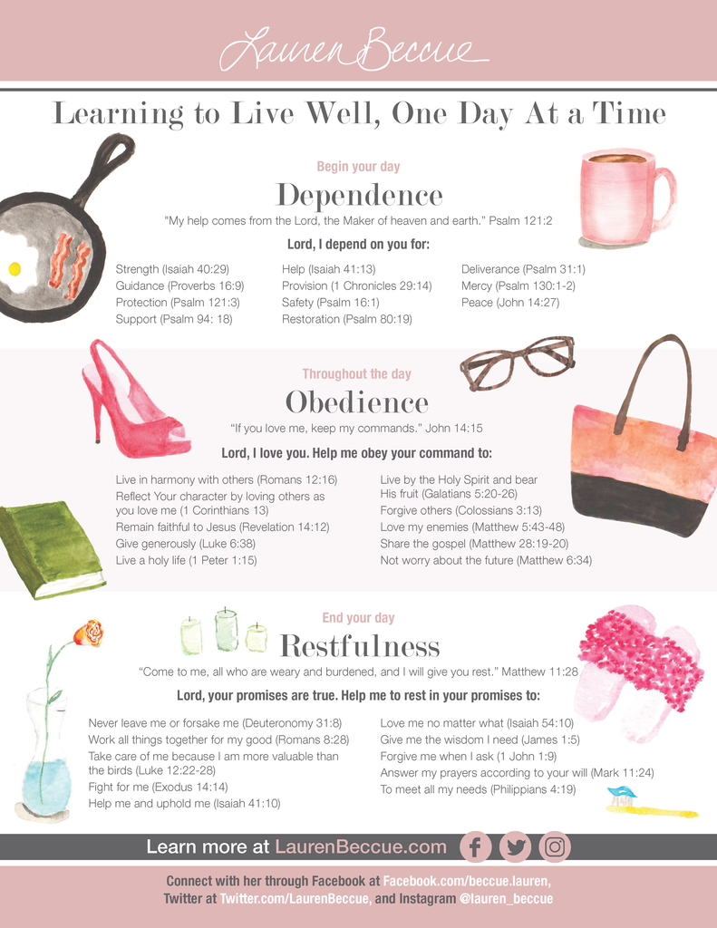 Free Printable - Learning to Live Well - Lauren Beccue