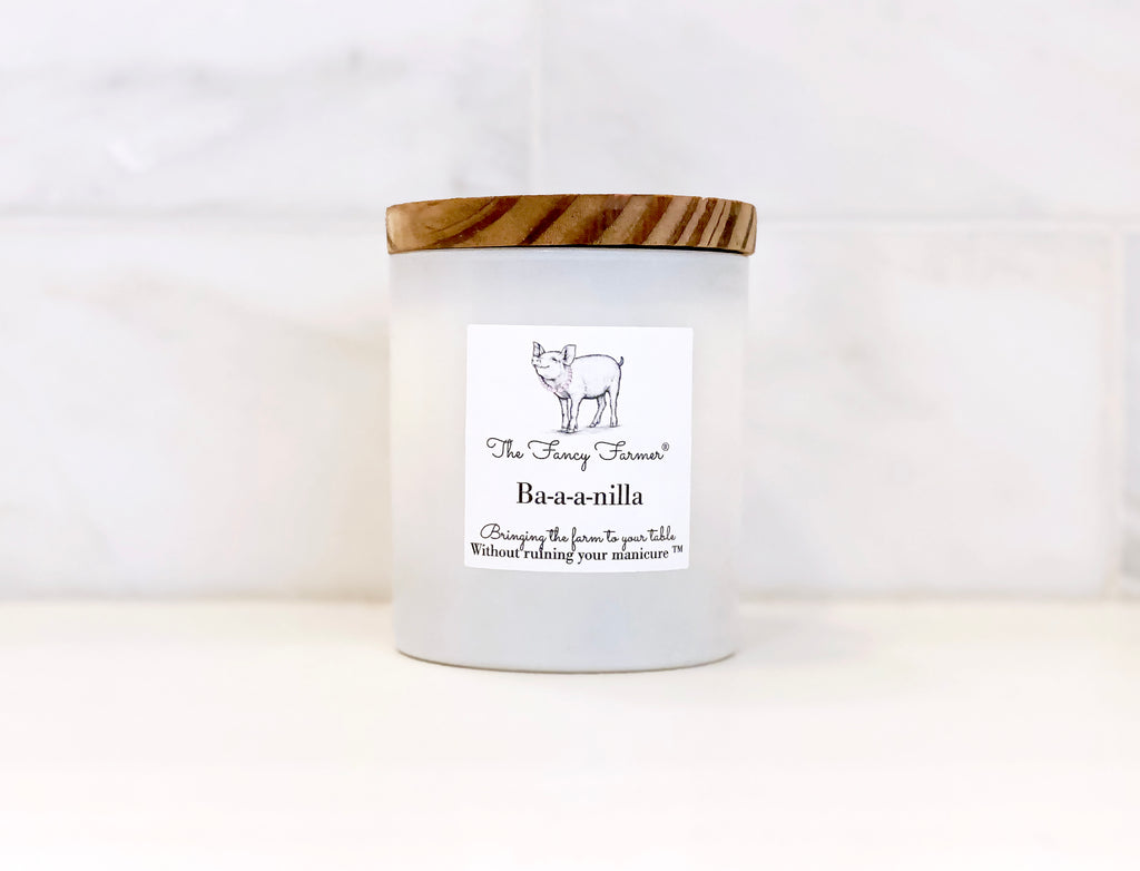 White Vanilla Candle (10oz) with beachwood lid