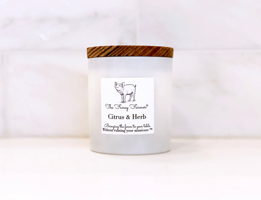 Citrus & Herb Candle (10oz) - The Fancy Farmer