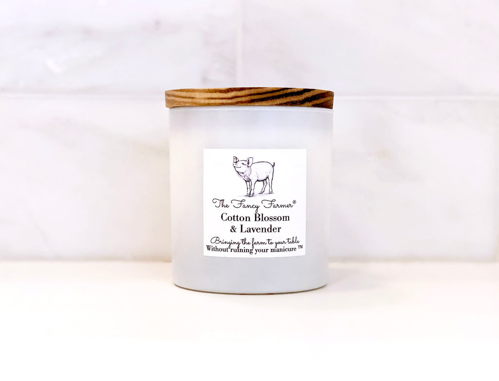 Mild notes of jasmine and cotton blossom candle combined with sheer musk and blonde woods, all blended with calming lavender. Beautiful, just like you!