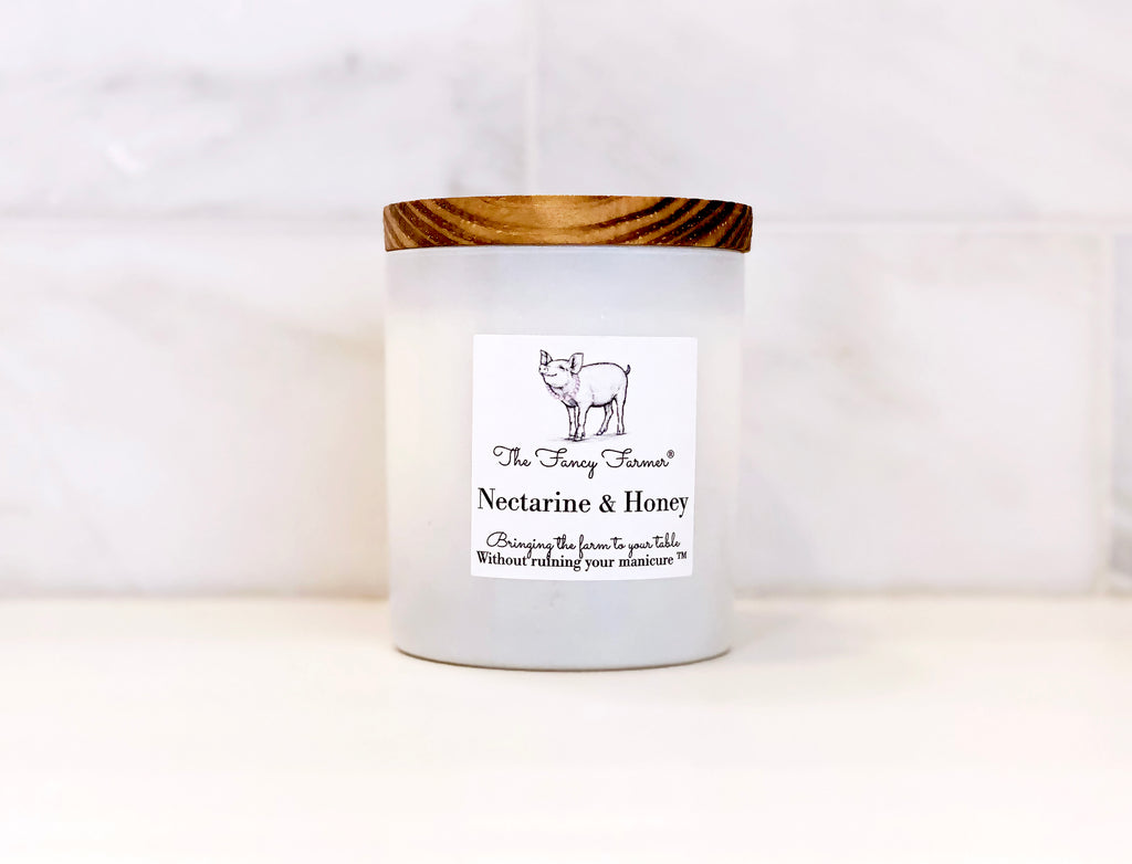 Nectarine & Honey Candle (10oz) - The Fancy Farmer