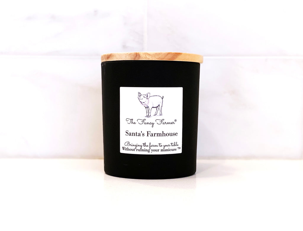 Fresh fir balsam, pine, cardamom, and pepper. It's Santa's favorite candle!