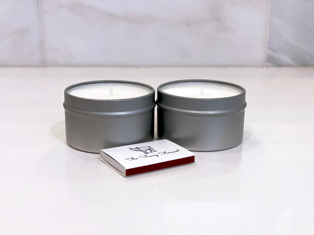 THE FANCY FARMER Scented Tin Votive Candles (2 x 6oz Tin)