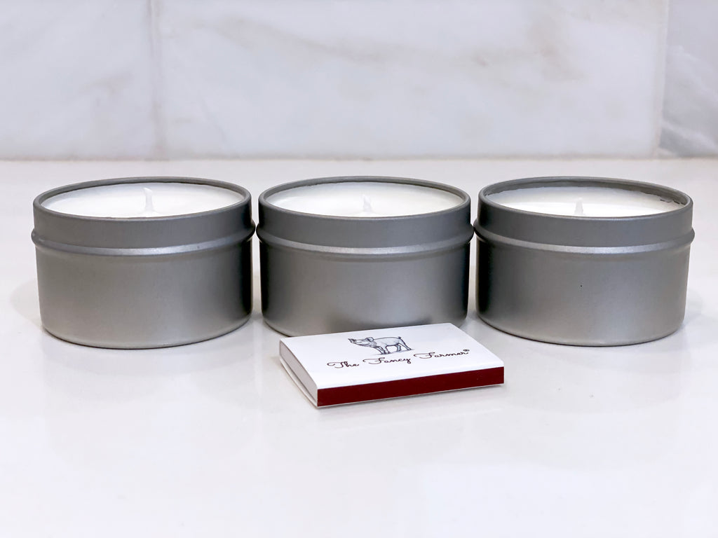 THE FANCY FARMER Scented Tin Votive Candles (3 x 6oz Tin)