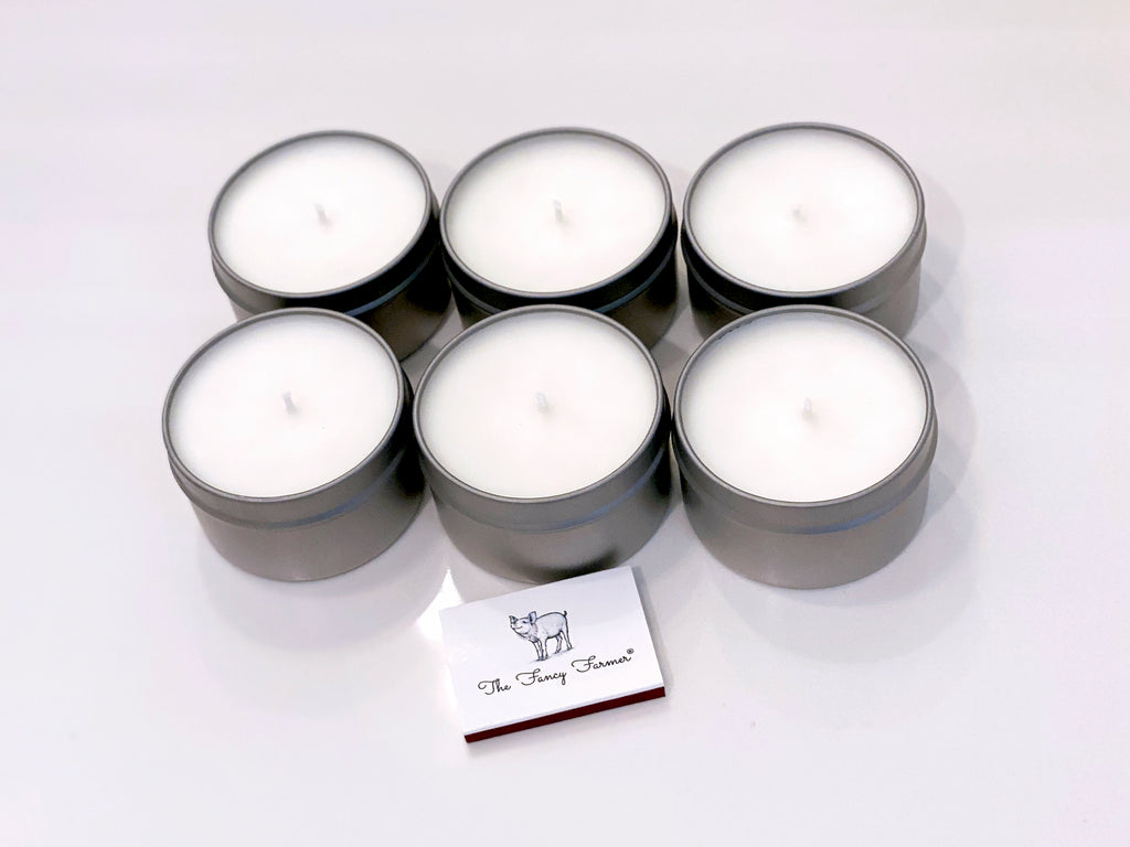 THE FANCY FARMER Scented Tin Votive Candles (6 x 6oz Tin)
