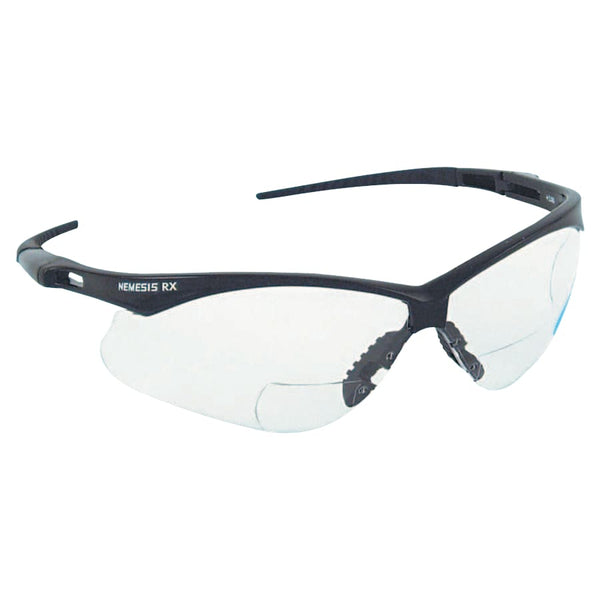 1.5 Mag Clear Lens Nemesis RX Safety Glasses with Cord