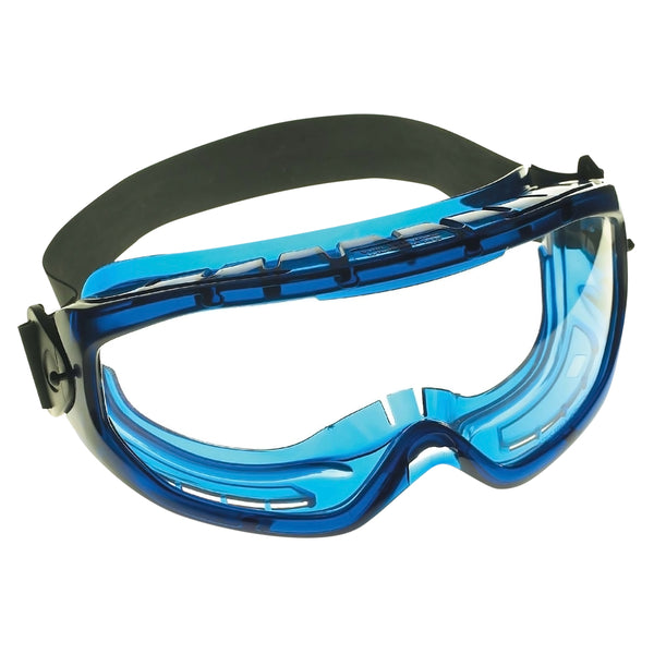 V80 MONOGOGGLE XTR Goggles, Clear/Blue, Indirect Ventilation, Antifog