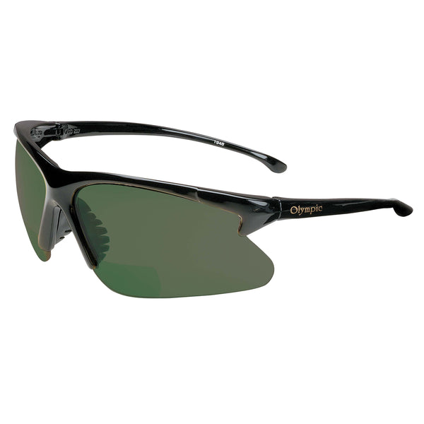 RX Nemesis Shade 5 Lens Safety Glass Readers by Jackson Safety, Black Frame 2.0 Mag