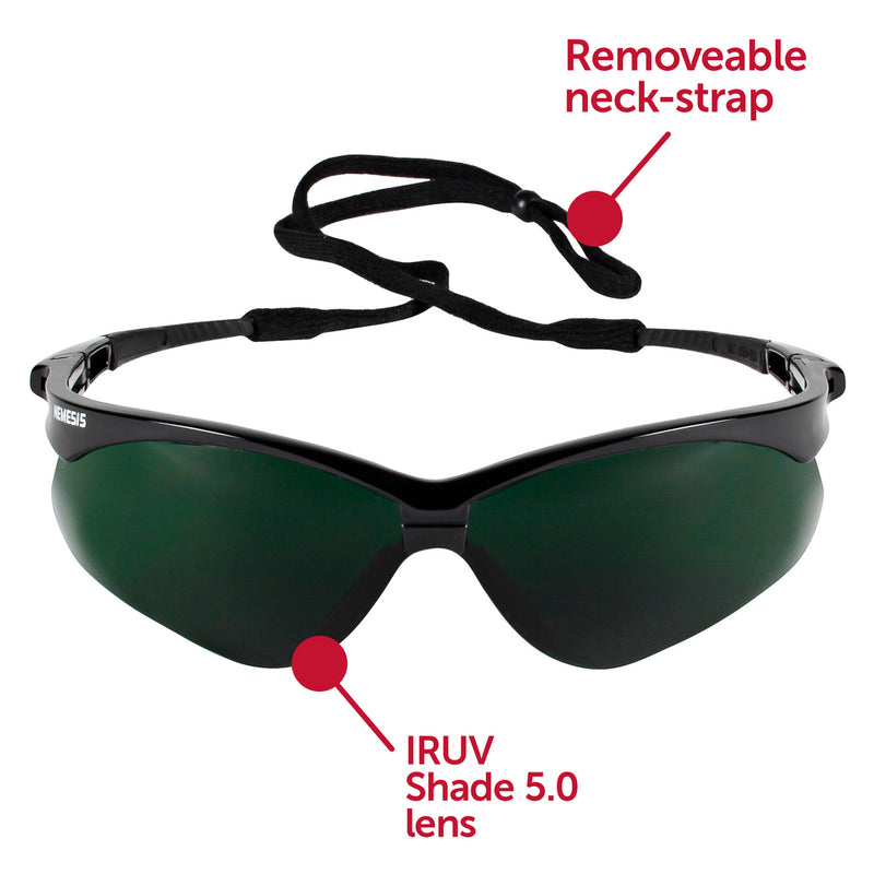 Shade 5, Black Frame Nemesis V30  Safety Glass