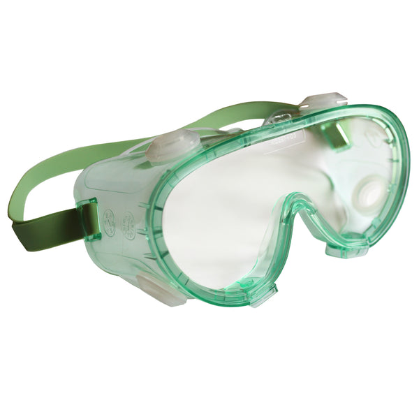 V80 MONOGOGGLE 211 Goggles, Clear/Green, Indirect Ventilation, Antifog